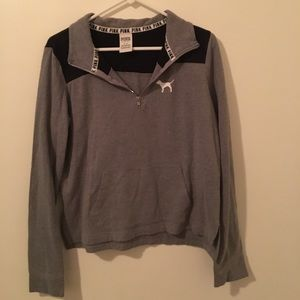 Gray 1/4 zip